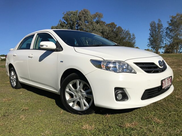 Used Toyota Corolla ZRE172R Ascent S-CVT, 2013 Toyota Corolla ZRE172R Ascent S-CVT Glacier White 7 Speed Constant Variable Sedan