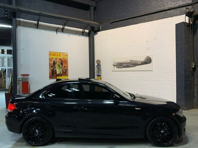 Used BMW 1 Series E82 LCI MY0911 123d Steptronic, 2011 BMW 1 Series E82 LCI MY0911 123d Steptronic Black 6 Speed Sports Automatic Coupe