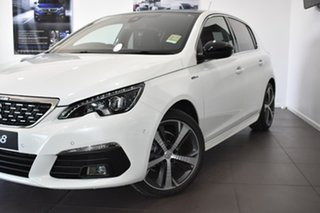 2019 Peugeot 308 T9 MY20 GT Line White 6 Speed Sports Automatic Hatchback.