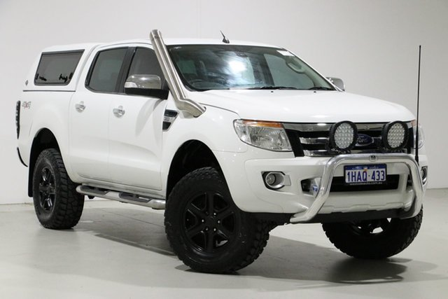 Used Ford Ranger PX XLT 3.2 (4x4), 2012 Ford Ranger PX XLT 3.2 (4x4) White 6 Speed Automatic Super Cab Utility