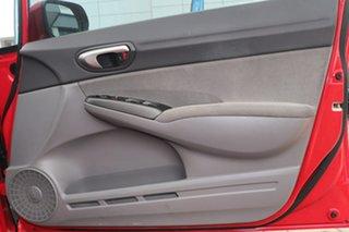 2008 Honda Civic 8th Gen MY08 VTi Red 5 Speed Automatic Sedan
