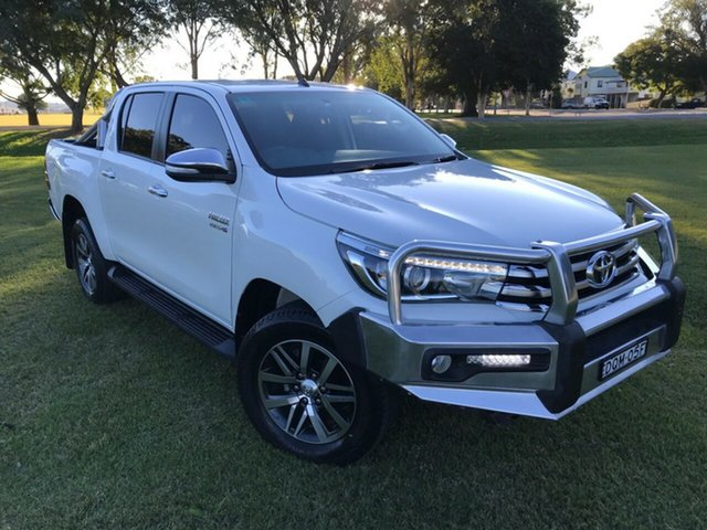 Used Toyota Hilux GUN126R SR5 Double Cab, 2017 Toyota Hilux GUN126R SR5 Double Cab Crystal Pearl 6 Speed Manual Utility