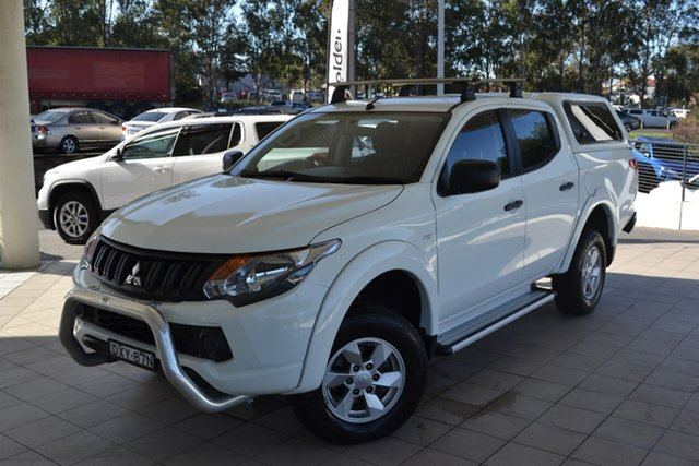 Used Mitsubishi Triton MQ MY18 GLX+ Double Cab, 2018 Mitsubishi Triton MQ MY18 GLX+ Double Cab White 5 Speed Sports Automatic Utility