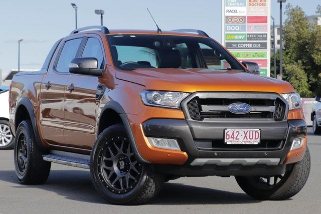 Used Ford Ranger PX MkII Wildtrak Double Cab, 2017 Ford Ranger PX MkII Wildtrak Double Cab Gold 6 Speed Sports Automatic Utility
