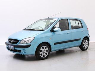 2009 Hyundai Getz TB MY09 S Light Blue 4 Speed Automatic Hatchback.