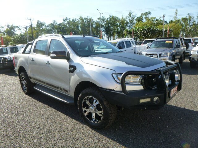 Used Ford Ranger PX MkII 2018.00MY FX4 Double Cab, 2017 Ford Ranger PX MkII 2018.00MY FX4 Double Cab Silver 6 Speed Manual Utility
