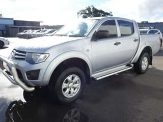 2013 Mitsubishi Triton MN MY14 GLX Double Cab Silver 4 Speed Sports Automatic Utility.