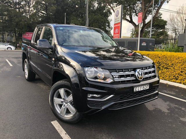 Demo Volkswagen Amarok 2H MY20 TDI550 4MOTION Perm Sportline, 2019 Volkswagen Amarok 2H MY20 TDI550 4MOTION Perm Sportline Black 8 Speed Automatic Utility