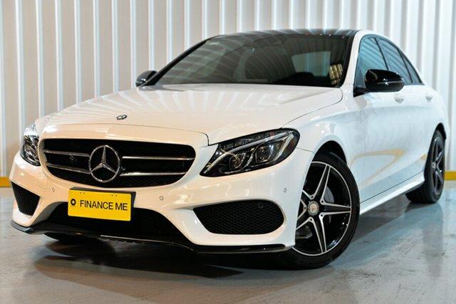 Used Mercedes-Benz C-Class W205 806+056MY C200 7G-Tronic +, 2016 Mercedes-Benz C-Class W205 806+056MY C200 7G-Tronic + White 7 Speed Sports Automatic Sedan
