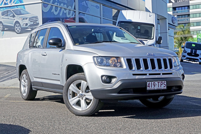 Used Jeep Compass MK MY13 Sport CVT Auto Stick, 2013 Jeep Compass MK MY13 Sport CVT Auto Stick Silver 6 Speed Constant Variable Wagon