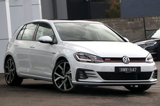 2018 Volkswagen Golf 7.5 MY19 GTI DSG Pure White 7 Speed Sports Automatic Dual Clutch Hatchback.