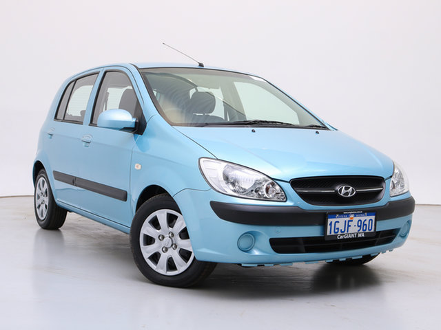 Used Hyundai Getz TB MY09 S, 2009 Hyundai Getz TB MY09 S Light Blue 4 Speed Automatic Hatchback