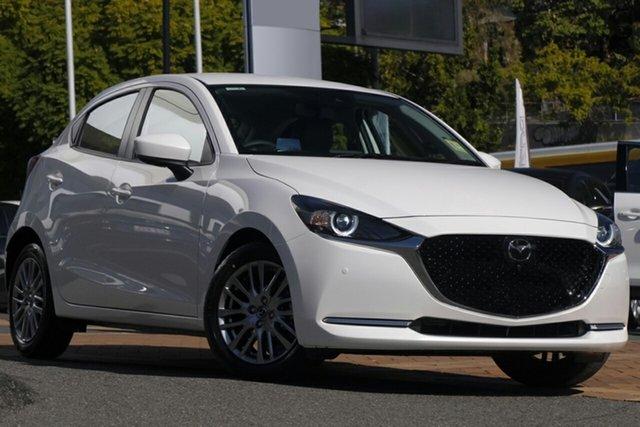 New Mazda 2 DJ2HAA G15 SKYACTIV-Drive GT Newstead, 2021 Mazda 2 DJ2HAA G15 SKYACTIV-Drive GT Snowflake White 6 Speed Sports Automatic Hatchback