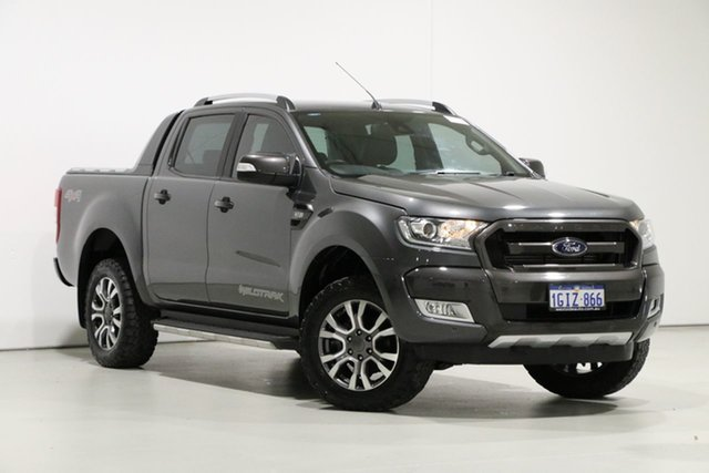 Demo Ford Ranger PX MkII MY17 Update Wildtrak 3.2 (4x4), 2017 Ford Ranger PX MkII MY17 Update Wildtrak 3.2 (4x4) Graphite 6 Speed Automatic Dual Cab Pick-up