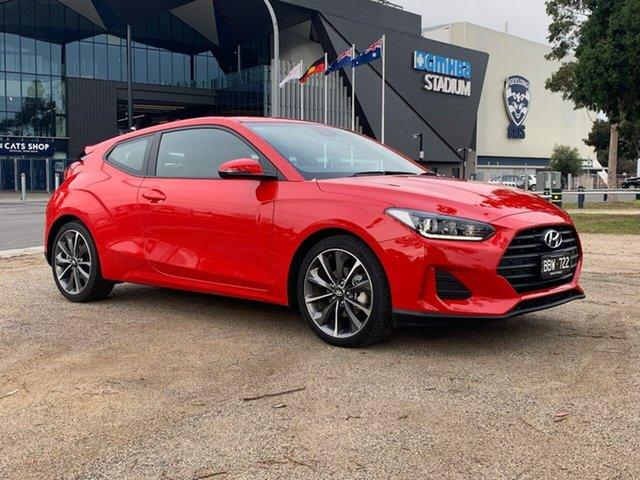 Demo Hyundai Veloster JS , 2019 Hyundai Veloster JS Red Automatic Hatchback
