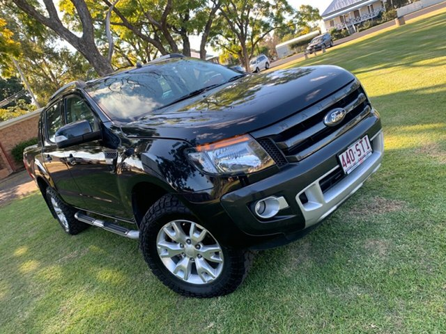 Used Ford Ranger PX Wildtrak Double Cab, 2012 Ford Ranger PX Wildtrak Double Cab Black 6 Speed Sports Automatic Utility