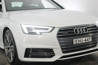 2016 Audi A4 B9 8W MY17 Sport S Tronic Quattro White 7 Speed Sports Automatic Dual Clutch Sedan.