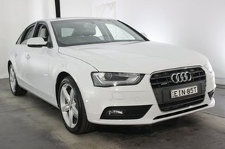2013 Audi A4 B8 8K MY13 S Tronic Quattro Glacier White 7 Speed Sports Automatic Dual Clutch Sedan.