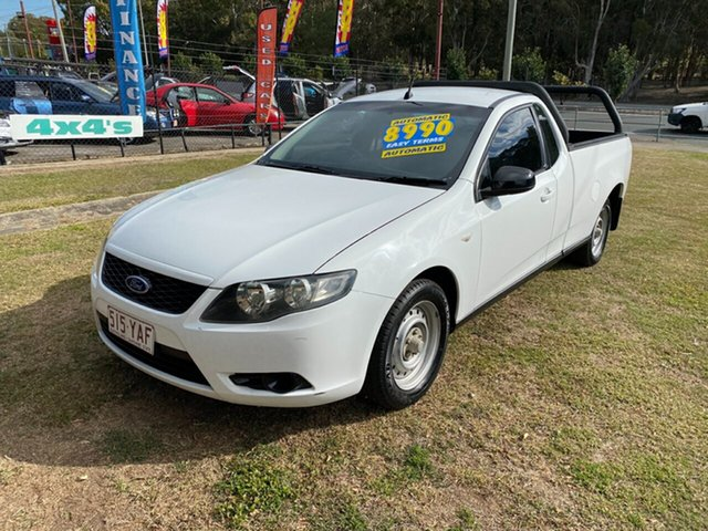 Used Ford Falcon FG Ute Super Cab, 2010 Ford Falcon FG Ute Super Cab White 5 Speed Automatic Utility