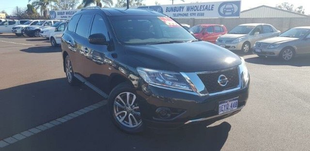 Used Nissan Pathfinder R52 MY15 ST X-tronic 2WD, 2016 Nissan Pathfinder R52 MY15 ST X-tronic 2WD Black 1 Speed Constant Variable Wagon