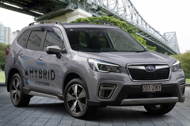 Demo Subaru Forester S5 MY20 Hybrid S CVT AWD, 2019 Subaru Forester S5 MY20 Hybrid S CVT AWD Ice Silver 7 Speed Constant Variable Wagon Hybrid