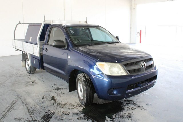 Used Toyota Hilux TGN16R MY09 Workmate 4x2, 2008 Toyota Hilux TGN16R MY09 Workmate 4x2 5 Speed Manual Cab Chassis