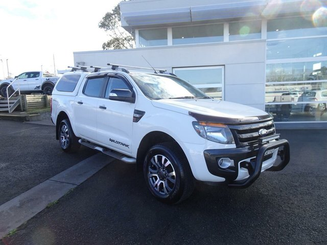 Used Ford Ranger PX Wildtrak Double Cab, 2014 Ford Ranger PX Wildtrak Double Cab White 6 Speed Sports Automatic Utility