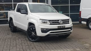 2019 Volkswagen Amarok 2H MY19 TDI580 4MOTION Perm Highline Black White 8 Speed Automatic Utility.