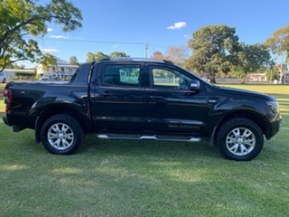 2012 Ford Ranger PX Wildtrak Double Cab Black 6 Speed Sports Automatic Utility.