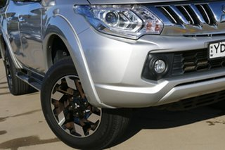 2015 Mitsubishi Triton MQ MY16 Exceed (4x4) Silver 5 Speed Automatic Dual Cab Utility.