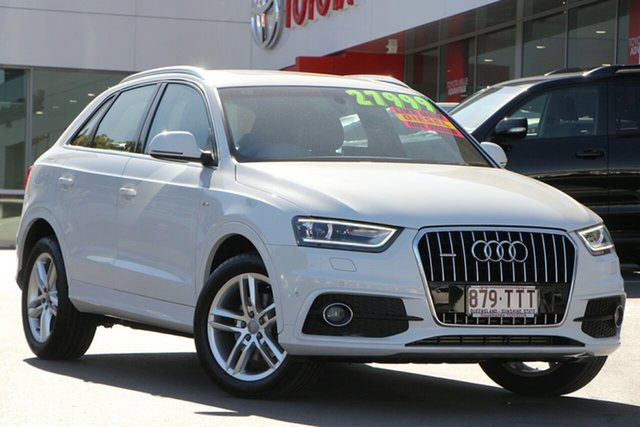 Used Audi Q3 8U MY14 TDI S Tronic Quattro, 2014 Audi Q3 8U MY14 TDI S Tronic Quattro White 7 Speed Sports Automatic Dual Clutch Wagon