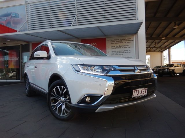 Used Mitsubishi Outlander ZL MY18.5 Exceed AWD, 2018 Mitsubishi Outlander ZL MY18.5 Exceed AWD White 6 Speed Sports Automatic Wagon