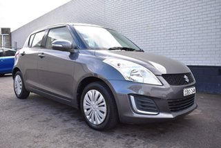 2015 Suzuki Swift FZ MY15 GL Grey 4 Speed Automatic Hatchback.