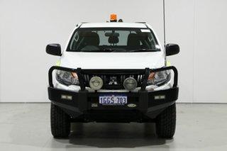 2016 Mitsubishi Triton MQ MY17 GLX (4x4) White 5 Speed Automatic Dual Cab Utility.