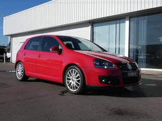 2008 Volkswagen Golf V MY08 GT DSG Sport Red 6 Speed Sports Automatic Dual Clutch Hatchback.