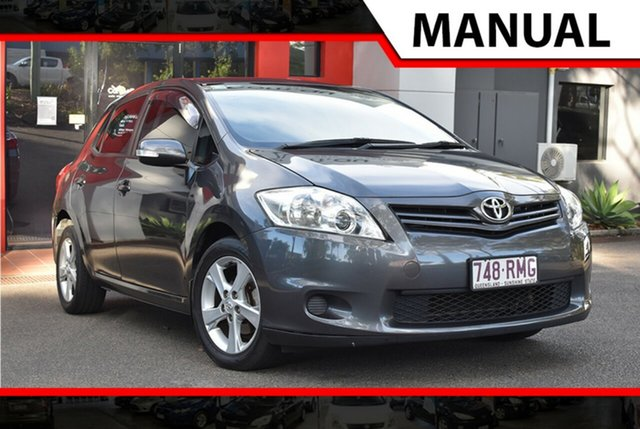 Used Toyota Corolla ZRE152R MY11 Conquest, 2011 Toyota Corolla ZRE152R MY11 Conquest Metallic Grey 6 Speed Manual Hatchback