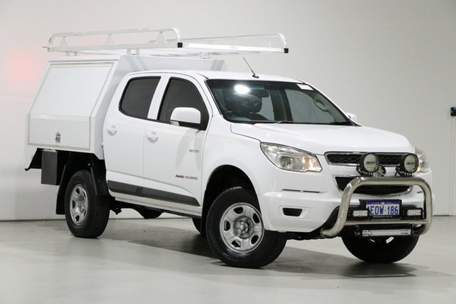 Used Holden Colorado RG MY14 LX (4x4), 2014 Holden Colorado RG MY14 LX (4x4) White 6 Speed Automatic Crew Cab Chassis