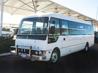 2011 Mitsubishi Fuso Rosa BE64D Base White Bus.