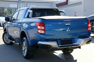 2016 Mitsubishi Triton MQ MY17 GLS (4x4) Blue Automatic Double Cab Pickup.