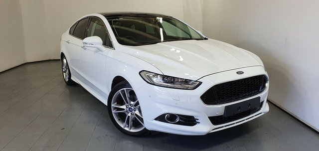 Used Ford Mondeo MD 2018.25MY Titanium PwrShift, 2018 Ford Mondeo MD 2018.25MY Titanium PwrShift White 6 Speed Sports Automatic Dual Clutch Hatchback