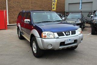 2004 Nissan Navara D22 ST-R (4x4) Blue 5 Speed Manual Dual Cab Pick-up.