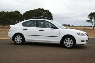 2006 Mazda 3 BK Neo White 4 Speed Auto Activematic Sedan.