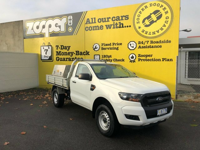 Used Ford Ranger PX MkII XL 4x2 Hi-Rider, 2017 Ford Ranger PX MkII XL 4x2 Hi-Rider White 6 Speed Manual Cab Chassis