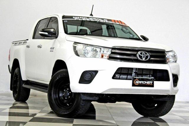 Used Toyota Hilux GUN126R SR (4x4), 2017 Toyota Hilux GUN126R SR (4x4) White 6 Speed Automatic Dual Cab Utility