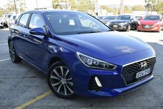 2019 Hyundai i30 PD2 MY19 Premium Intense Blue 6 Speed Sports Automatic Hatchback.