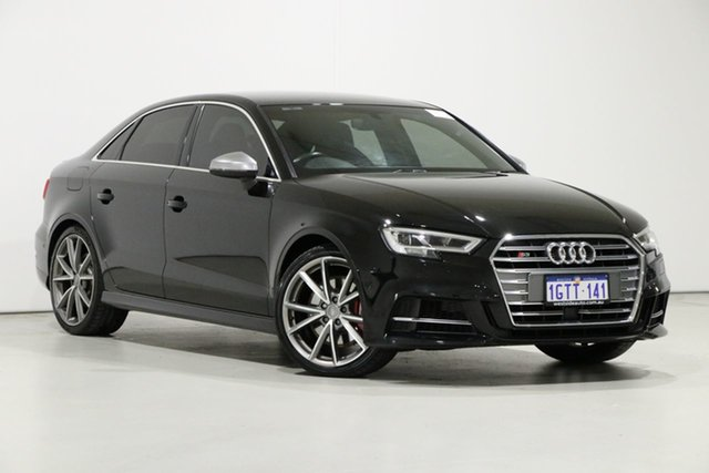 Used Audi S3 8V MY18 2.0 TFSI Quattro, 2017 Audi S3 8V MY18 2.0 TFSI Quattro Black 7 Speed Auto S-Tronic Sedan