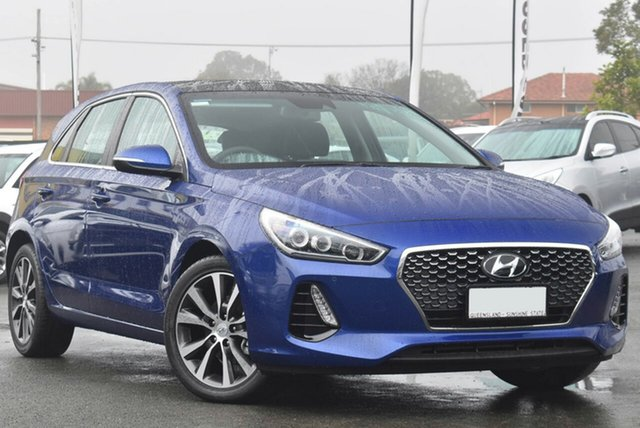 Demo Hyundai i30 PD2 MY19 Premium Toowoomba, 2019 Hyundai i30 PD2 MY19 Premium Intense Blue 6 Speed Sports Automatic Hatchback