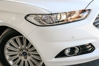 2016 Ford Mondeo MD Trend PwrShift White 6 Speed Sports Automatic Dual Clutch Hatchback.
