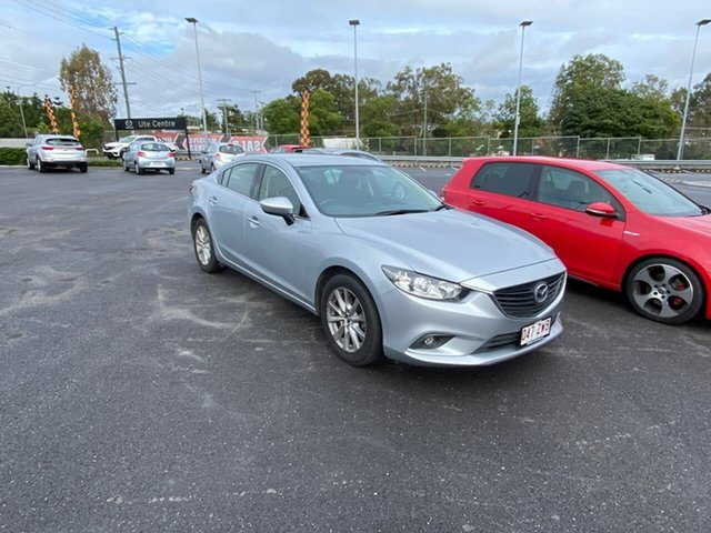 Used Mazda 6 GJ1031 Sport SKYACTIV-Drive, 2014 Mazda 6 GJ1031 Sport SKYACTIV-Drive Silver, Chrome 6 Speed Sports Automatic Sedan