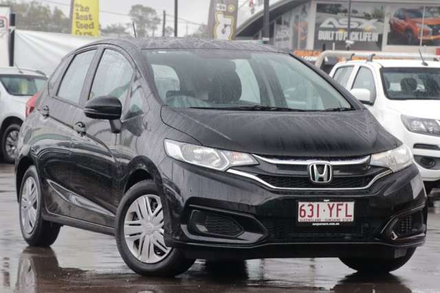 Used Honda Jazz GF MY18 VTi, 2018 Honda Jazz GF MY18 VTi Black 1 Speed Constant Variable Hatchback